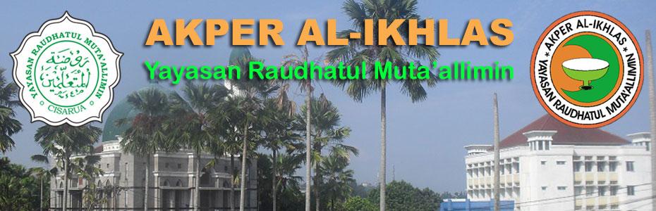 Logo AKPER Al-Ikhlas dan Logo Yayasan Raudhatul Muta'allimin